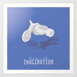 Never Forget to Play - Big Wheel Art Print