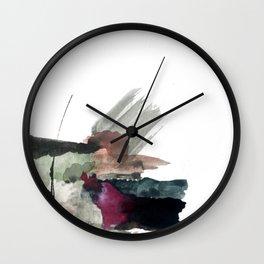 Begin [3]: a minimal abstract mixed media piece Wall Clock