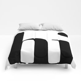Hi Typography Comforters