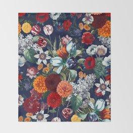 Night Garden XXXV Throw Blanket