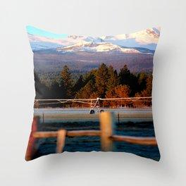 Morning Irrigation Throw Pillow