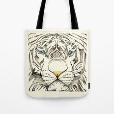 The White Tiger Tote Bag