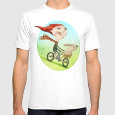 Bicicleta White Mens Fitted Tee MEDIUM