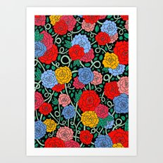 FLOWERS FROM THE SOUTH Art Print