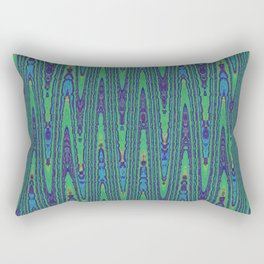 Sine Waves Abstract Watercolor Rectangular Pillow