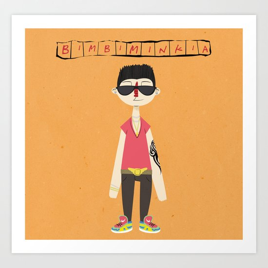 """Bimbiminkia"" - Tamarro Art Print"