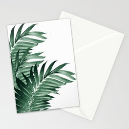 Palm Leaves Tropical Green Vibes #3 #tropical #decor #art #society6 Stationery Cards