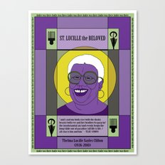 St. Lucille the Beloved Canvas Print