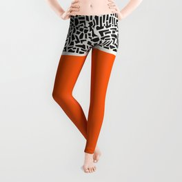 City Sunset Abstract Leggings