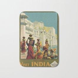 Udaipur Visit India Placard Bath Mat