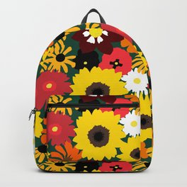 Retro Fall Flowers Backpack