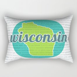 Words of Wisconsin Rectangular Pillow