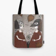 Ana and Eva (An All Hallows' Eve Tale) Tote Bag
