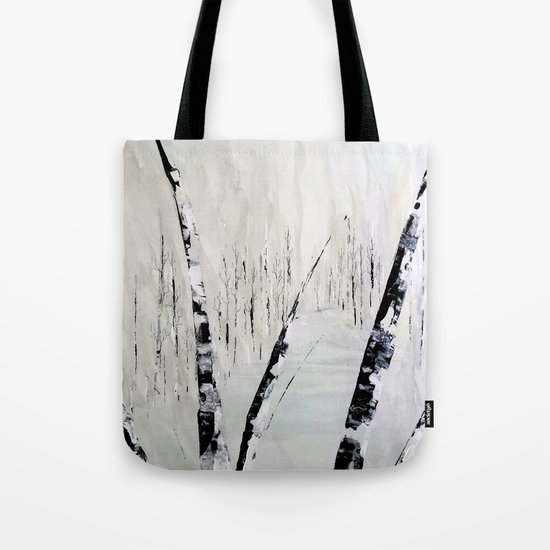 Winter Birch Forest Tote Bag
