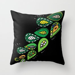 touch_leaves Throw Pillow