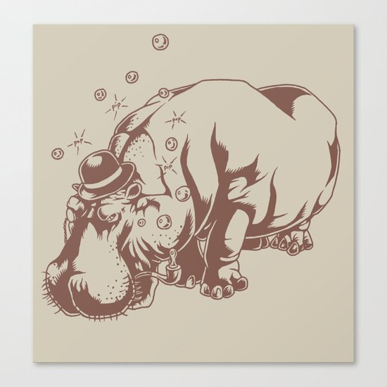 Hippo-Thesis Canvas Print