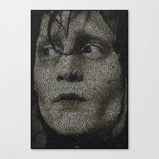 Edward Scissorhands Screenplay Print Canvas Print