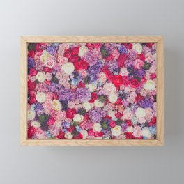 Purple Flowers Framed Mini Art Print