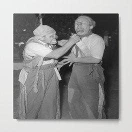 Vintage Photograph - Two Clowns Metal Print