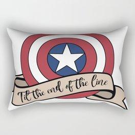 Til the end of the line Rectangular Pillow