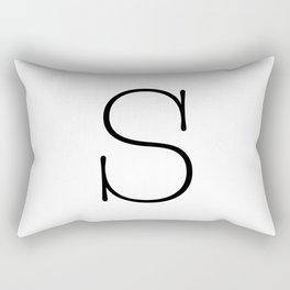 Letter S Typewriting Rectangular Pillow