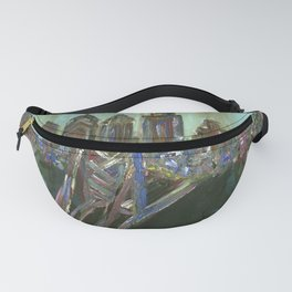 Earth-tone Philly Skyline Fanny Pack