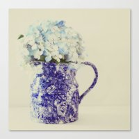 hydrangea Canvas Prints featuring Hydrangea by Beverly LeFevre