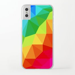 Rainbow Low Poly Clear iPhone Case