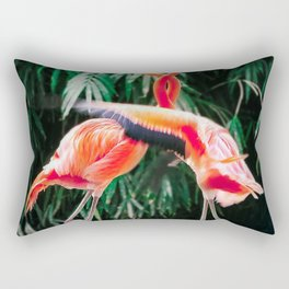 Flamingo Dance (Color) Rectangular Pillow