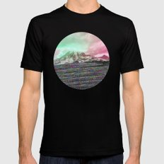 Mount Wisdom [cropped] Mens Fitted Tee Black LARGE