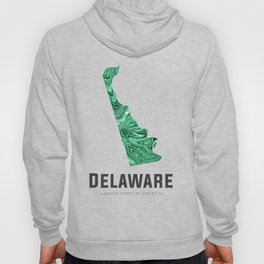Delaware - State Map Art - Abstract Map - Green Hoody