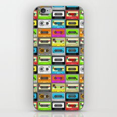 Retro 80s Cassette Tape Pattern iPhone & iPod Skin
