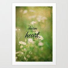 Jane Austen Quote Charm Tenderness Heart Art Print