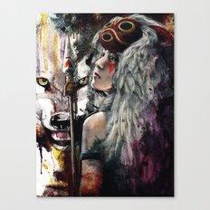 Mononoke San and The Spirit of the Wolf Canvas Print