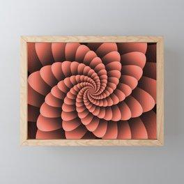 Pantone Living Coral Nautical Swirl Digital Design - Nautilus Swirl Framed Mini Art Print