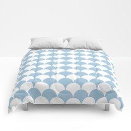 Fan Pattern 321 Pale Blue Comforters