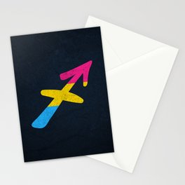 Pansexual Pride Flag Sagittarius Zodiac Sign Stationery Cards