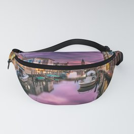 Venice Italy Canal at Sunset Photograph Fanny Pack