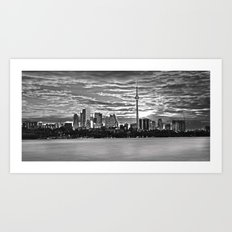 A view of downtown Toronto. Art Print
