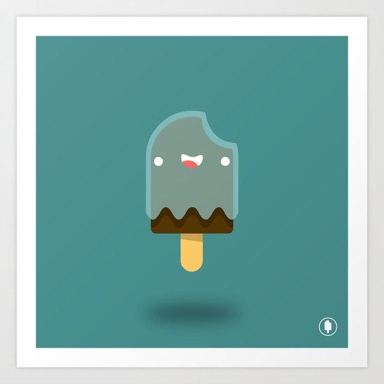 Boo-sicle Art Print