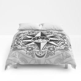 Journey to Moon Mountain | Black & Grays Comforters