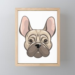Cute french bulldog muzzle Framed Mini Art Print