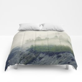 Trees and Fog Comforters