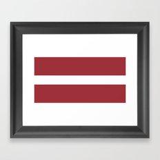 Flag Of Latvia Framed Art Print