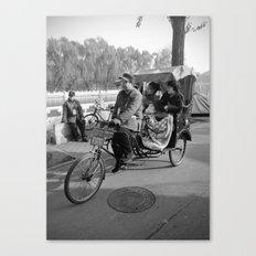 Beijing rickshaw driver in Houhai Canvas Print