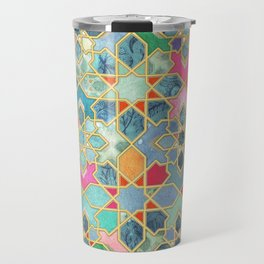 Gilt & Glory - Colorful Moroccan Mosaic Travel Mug