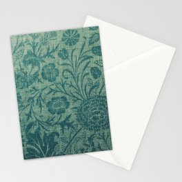 art Nouveau,teal,William Morris style, floral,chic,elegant,modern,trending,victorian decor,floral pa Stationery Cards