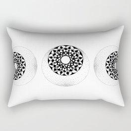 The Moon and Stars Rectangular Pillow