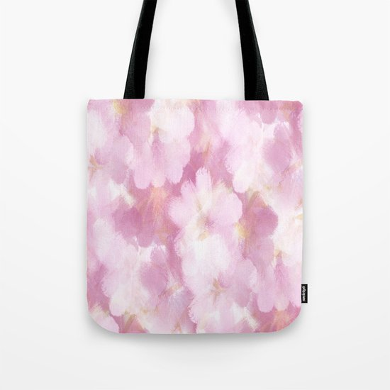 Painted Flowers Abstract Tote Bag