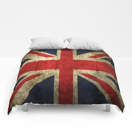 GRUNGY BRITISH UNION JACK  DESIGN ART Comforters